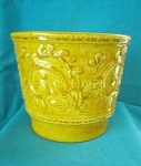 Haeger #1 Usa Golden Scroll Pottery Flower Pot