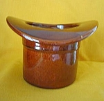 Haeger Pottery Brown Top Hat Planter #179