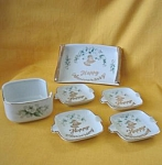 Lefton 6 Piece Happy Anniversary Set