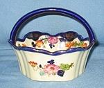 Noritake Moriyama Enameled Porcelain Basket
