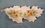 Mitterteich Porcelain Daisy Floral Leaf Dish