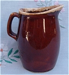 Hull Mirror Brown Jug Cream Pitcher