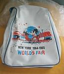 New York Worlds Fair Vinyl Tote Bag-1964/1965