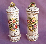 Lefton Floral Rustic Salt Pepper Shakers