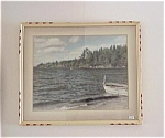 Lovely Framed Picture Canadian Lake Photo