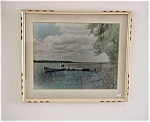 Old Framed Picture Lake- Photo