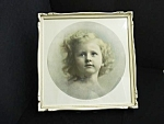 Lovely 1905 Large Framed Photo Daddy's Girl