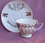 Lefton 25th Anniversary Cup And Saucer
