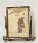 Lovely Art Deco Wood Frame Swivel Type