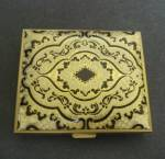 Beautiful Tooled Leather Compact Vintage
