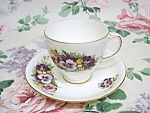 Old Royal Cup & Saucer - Pretty Pansy