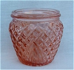 Occupied Japan Jar Flamingo Color Glass