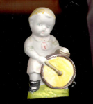 Occupied Japan Boy With Drum Bisque