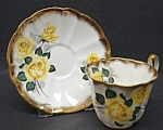 Vintage Adderley Cup&saucer Yellow Rose