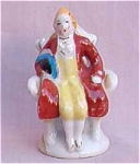 Occupied Japan Man In A Chair Figurine