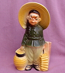 Royal Copley Oriental Boy Figural Planter