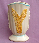 Shawnee Pottery Wheat Fan Vase Usa 1930's