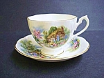Pretty Queen Anne English China Cup & Saucer