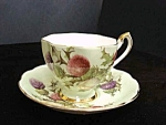 Special Vintage Cup And Saucer Set Thistle