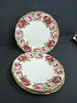 Old English Rose Set Of Plates