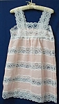 Pretty Vintage Ladies Nightgown Lace Inserts