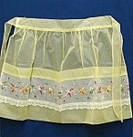 Pretty Vintage Apron-embroidery On Organdy
