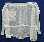 Lovely Vintage Soft Organdy Ladies Apron