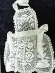 Antique Filet Lace Ladies Apron