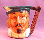 Vintage Toby Mug Cup Feather In Cap
