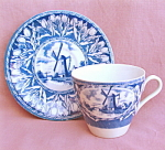 Tulip And Windmill Cup And Saucer.