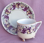Vintage Yada China Pansy Cup And Saucer