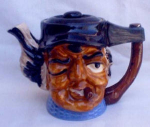 Vintage Character Toby Teapot With Cigar