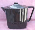 Shiny Black Pottery Teapot Tea Pot.