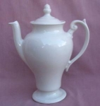 White Acorn Pottery Teapot Tea Pot