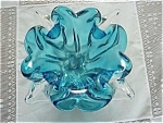 Lovely Signed Chalet Glass 4 Point Bowl