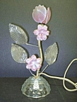 Lamp Venetian Glass Style Art Glass