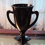Dark Amethyst Glass Vase Deco / Nouveau