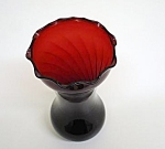Pretty Ruby Red Quilted Design - Vase