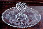 Candlewick Crystal Etched Plater Heart Shape