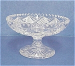 Vintage Cut Glass Crystal Pedestal Comporte