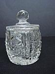 Lovely & Intricate Cut Glass Marmalade Pot