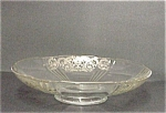 Pedestal Silver Overlay Deco Large Fruit Bowl