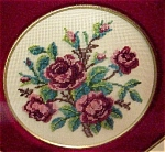 Antique Ornate Frame & Petit Point Point