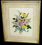 Gorgeous Framed Embroidery Floral Bouquet