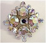 1940's Rhinestone Brooch - Signed Sherman