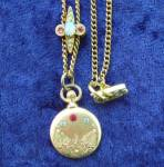 Jewelled Locket With Slider Chain