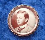 Victorian Miniature Portrait Brooch
