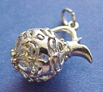 Sterling Filigree Pendant Or Large Charm
