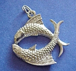 Sterling Pendant Or Large Double Charm