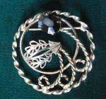 Brooch Sterling Circular